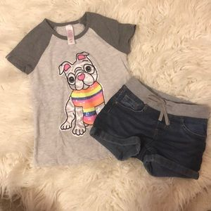 Justice 2 Piece Outfit Size 6/7